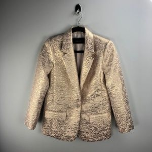 Zara NEW Blush Golden Blazer Size XS